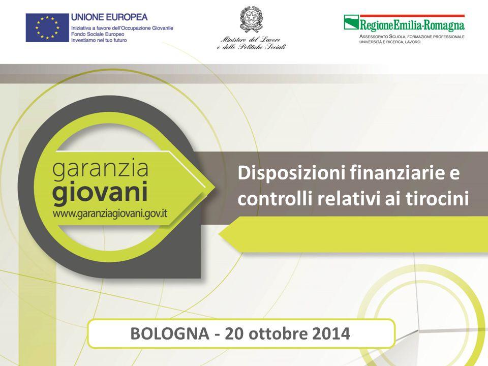 Disposizioni finanziarie e controlli relativi ai tirocini