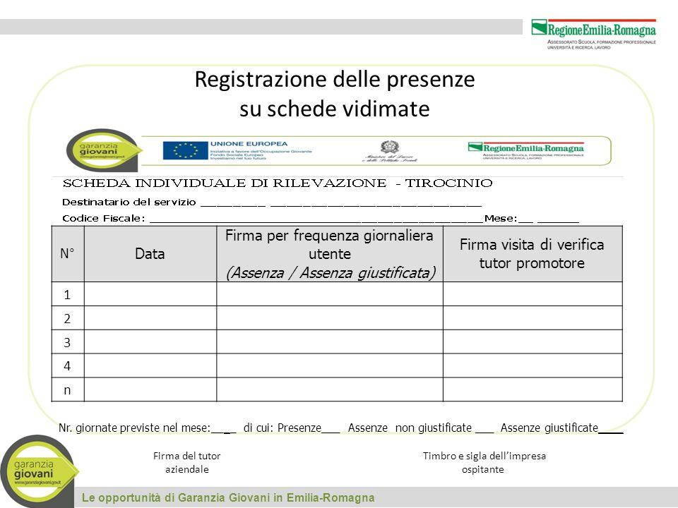 Registrazione delle presenze su schede vidimate