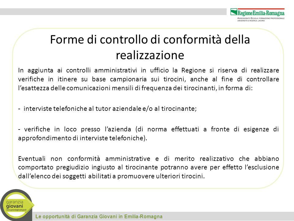 Forme di controllo di conformità della realizzazione