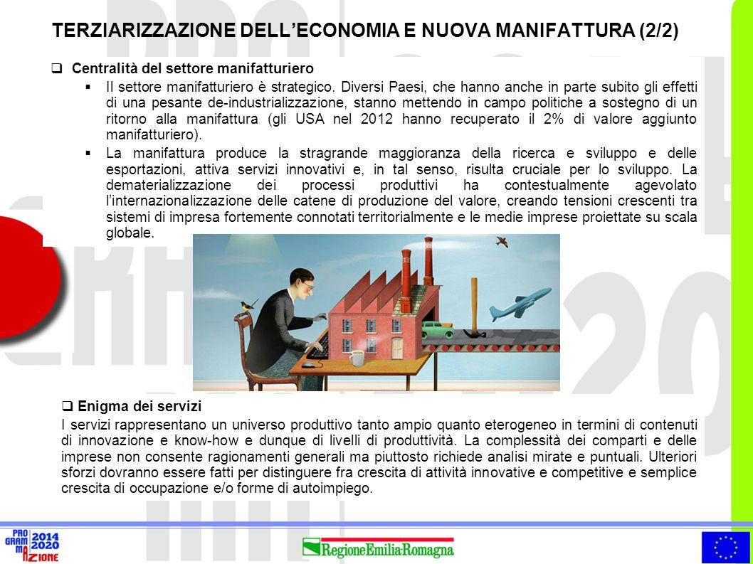 TERZIARIZZAZIONE DELL'ECONOMIA E NUOVA MANIFATTURA (2/2)
