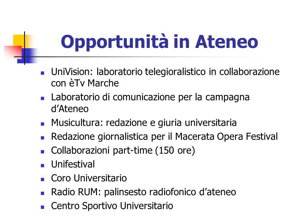Opportunità in Ateneo UniVision: laboratorio telegioralistico in collaborazione con èTv Marche.