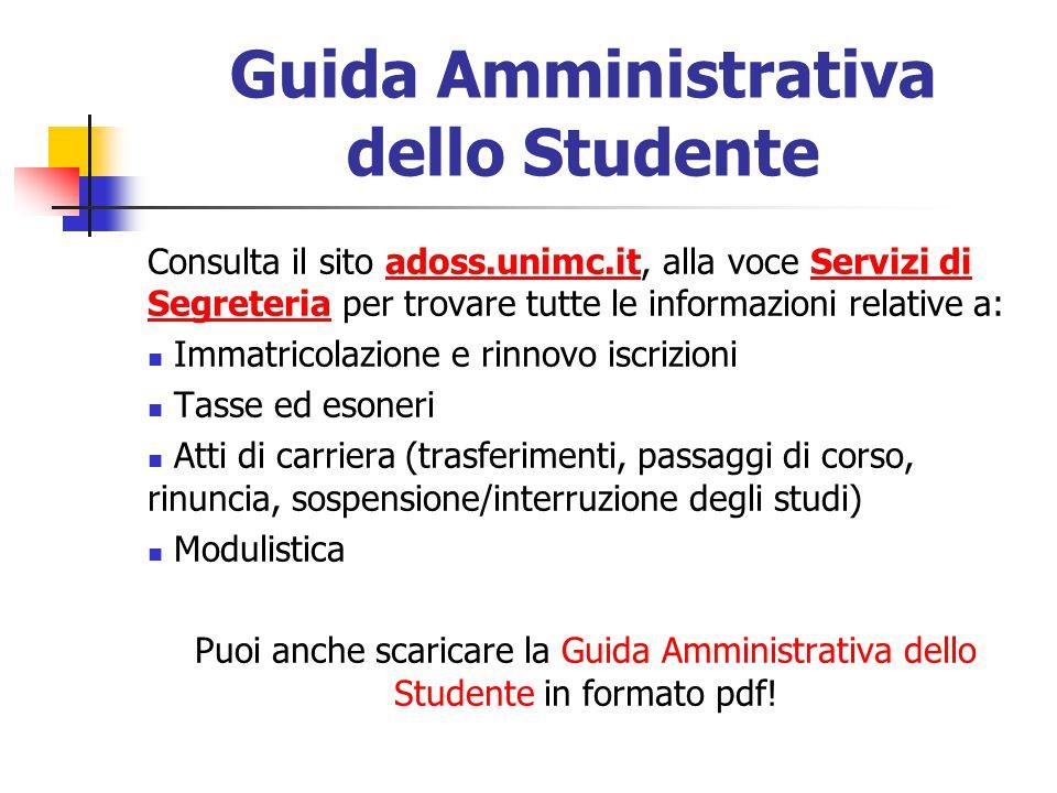 Guida Amministrativa dello Studente