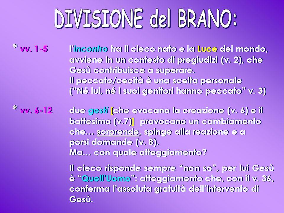 DIVISIONE del BRANO: