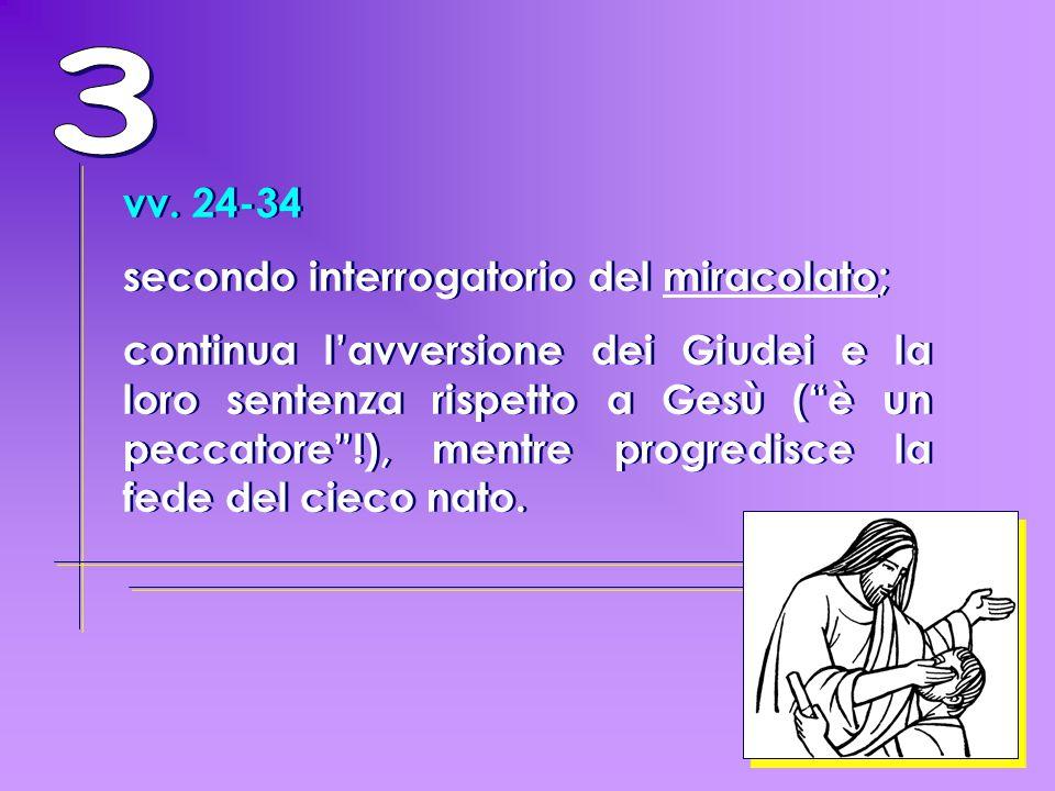 3 vv. 24-34 secondo interrogatorio del miracolato;