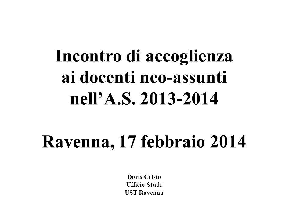 Incontro di accoglienza ai docenti neo-assunti nell'A.S. 2013-2014