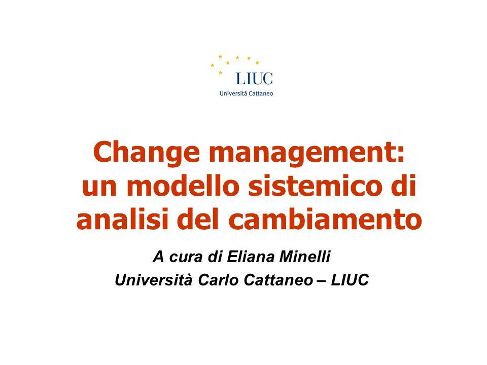 Change management: un modello sistemico di analisi del cambiamento