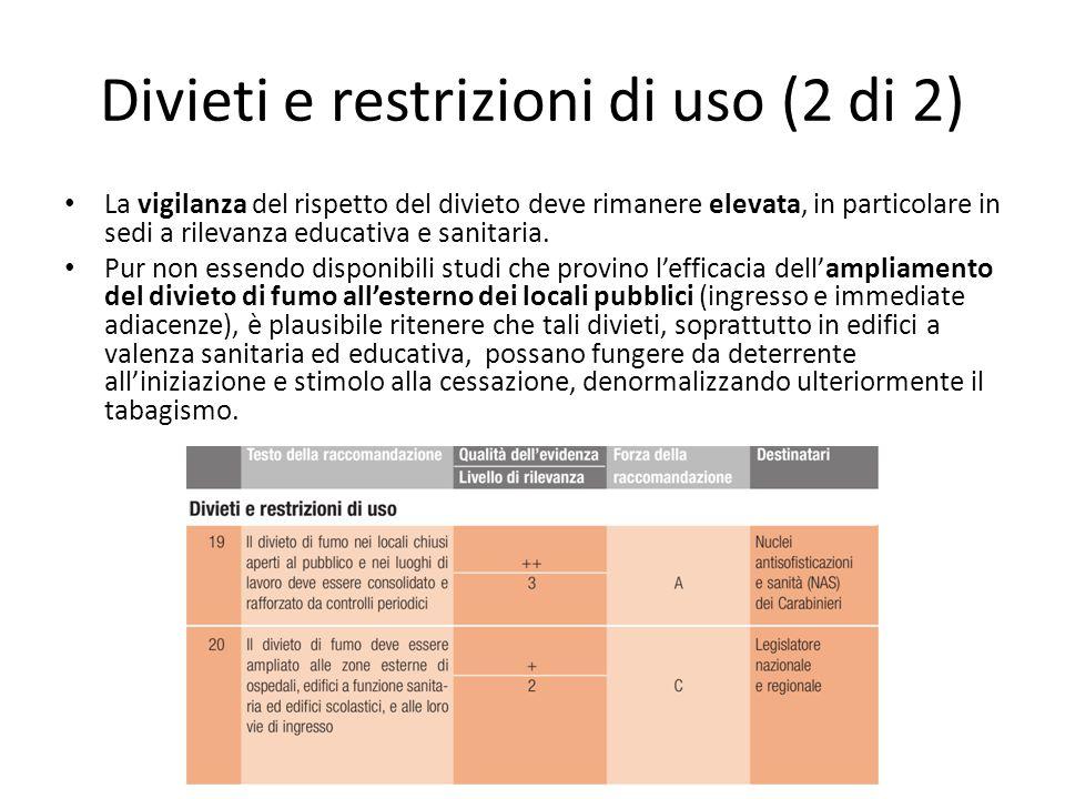 Divieti e restrizioni di uso (2 di 2)