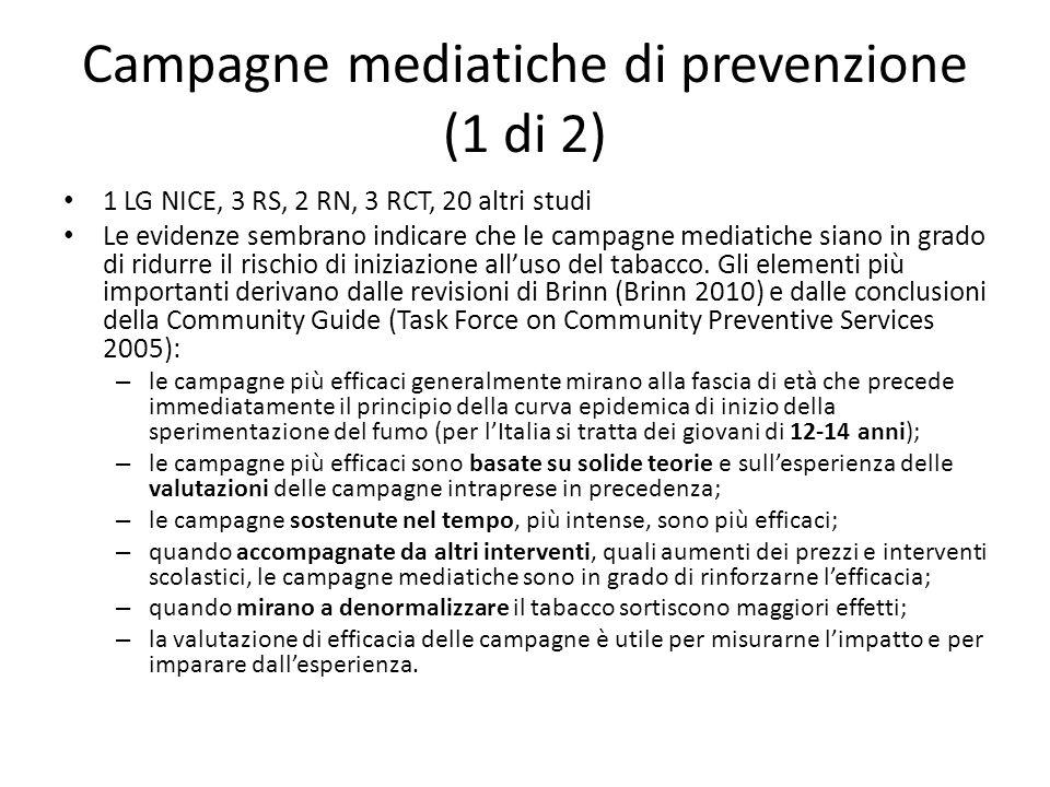 Campagne mediatiche di prevenzione (1 di 2)