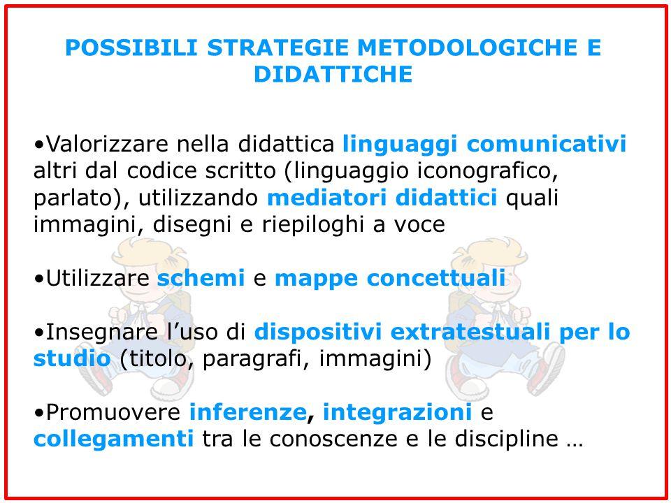 POSSIBILI STRATEGIE METODOLOGICHE E DIDATTICHE