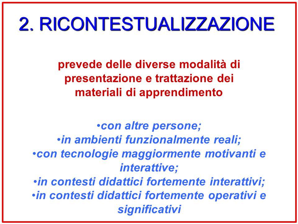 2. RICONTESTUALIZZAZIONE