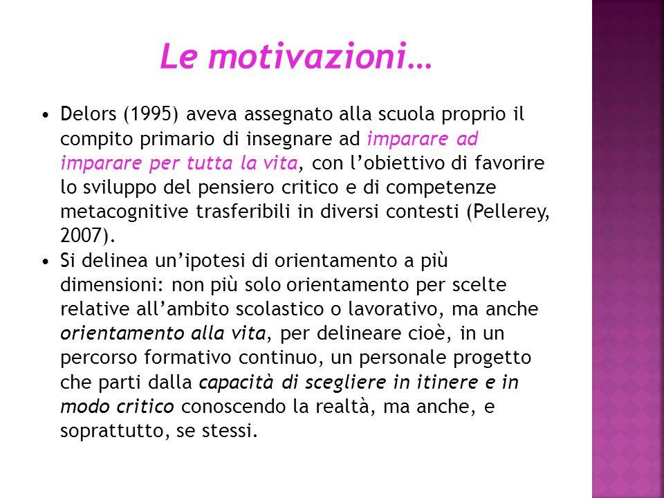 Le motivazioni…