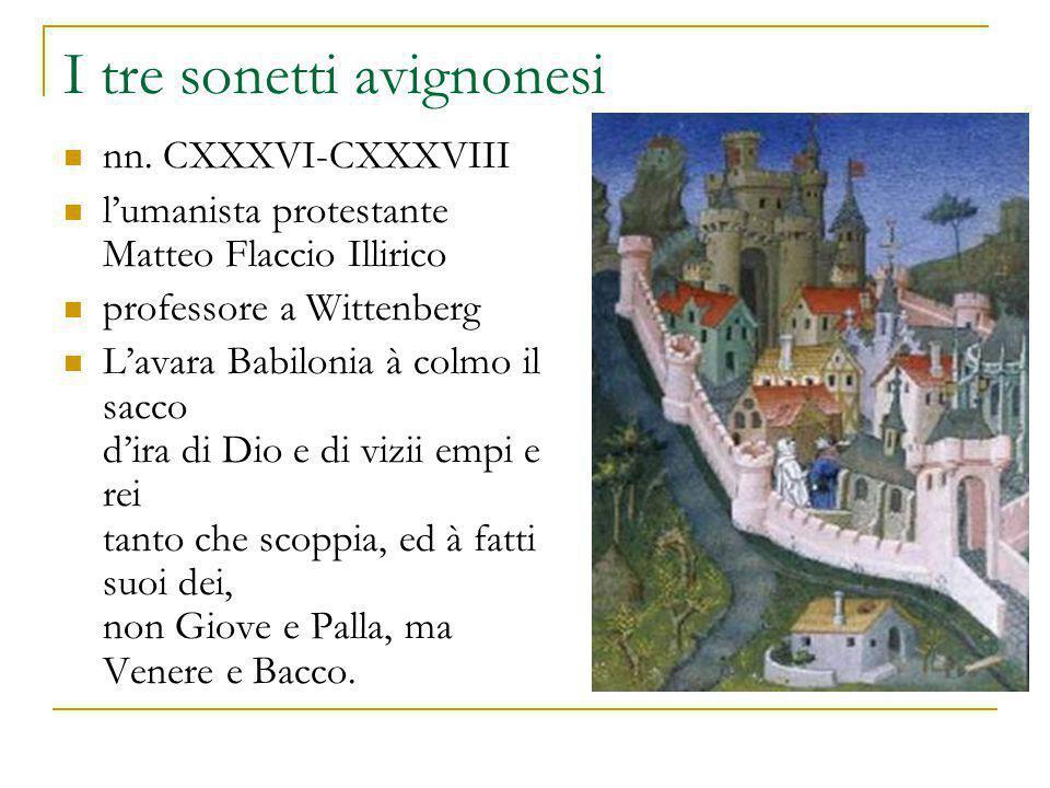 I tre sonetti avignonesi