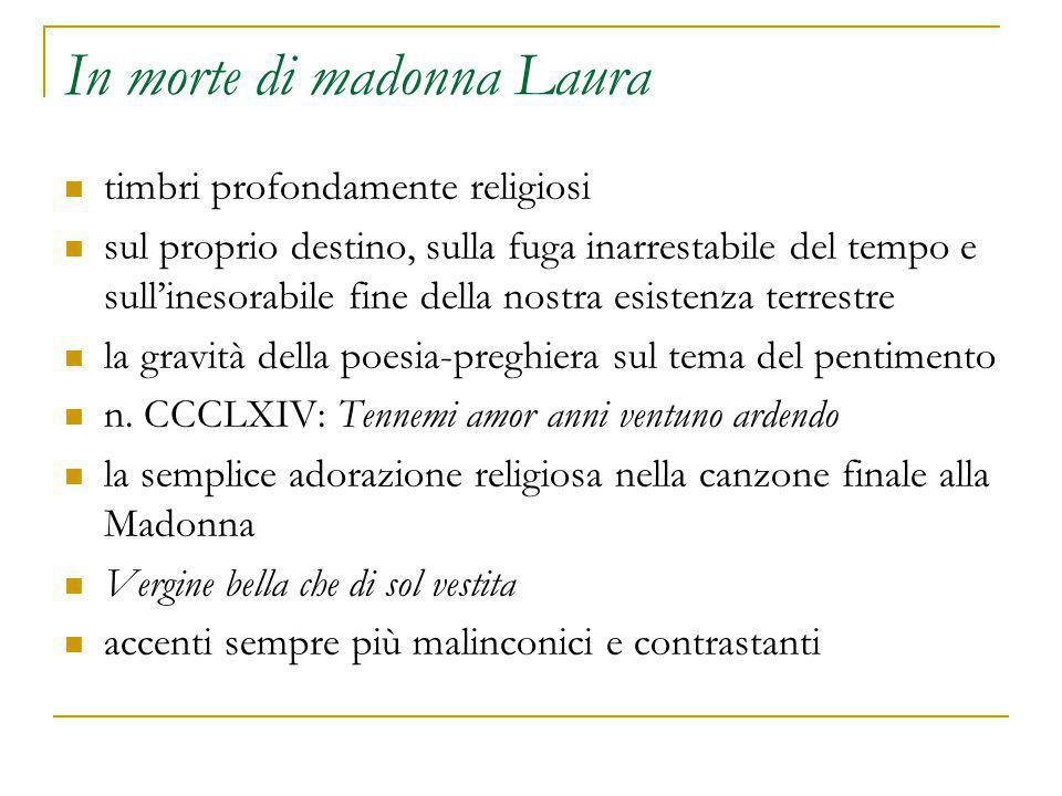 In morte di madonna Laura