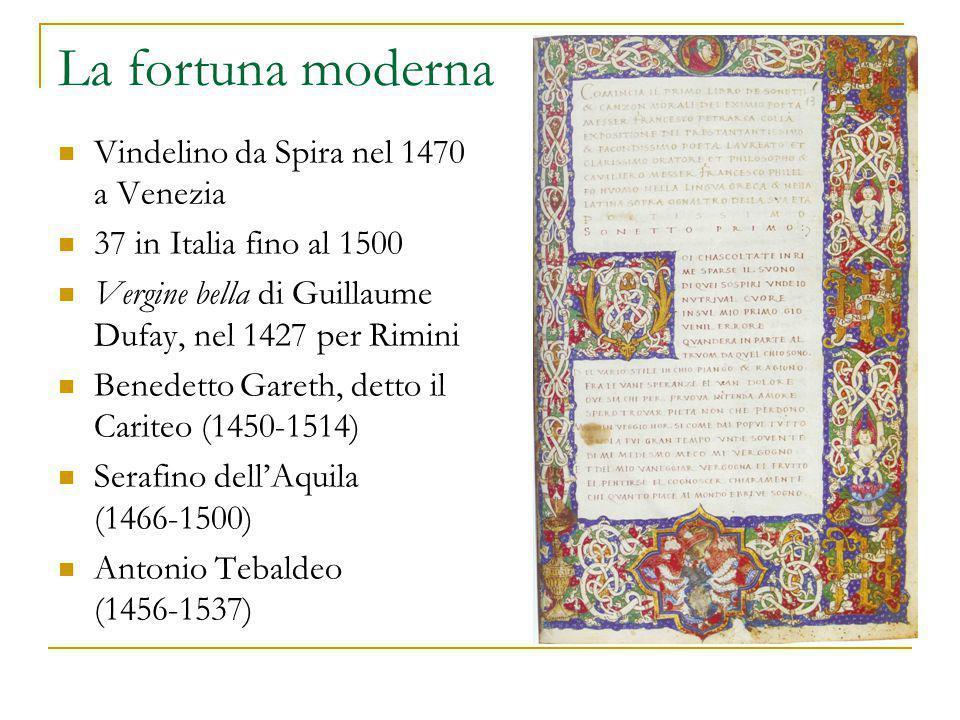 La fortuna moderna Vindelino da Spira nel 1470 a Venezia