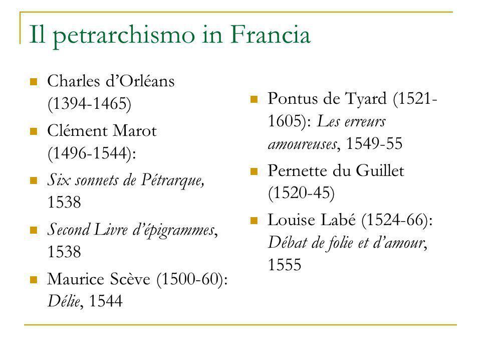 Il petrarchismo in Francia