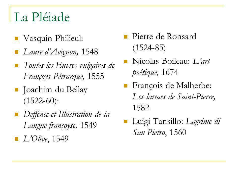 La Pléiade Pierre de Ronsard (1524-85) Vasquin Philieul: