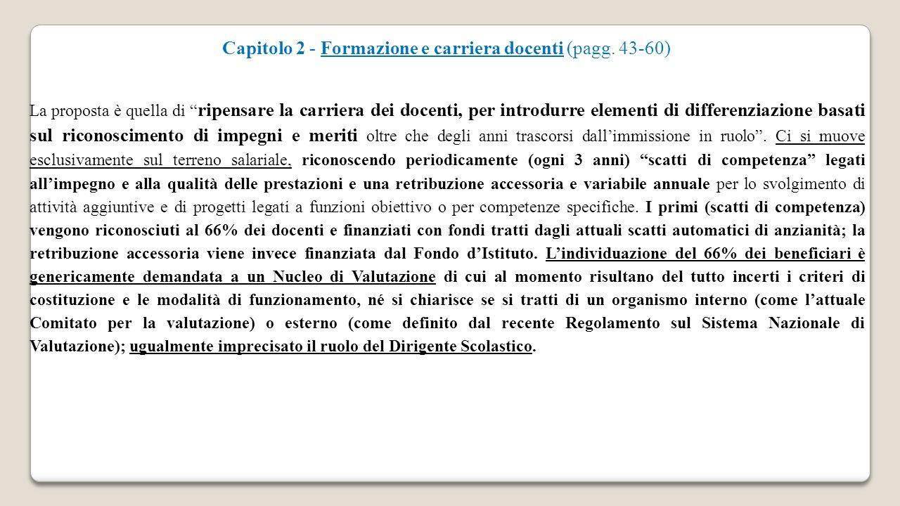Capitolo 2 - Formazione e carriera docenti (pagg. 43-60)