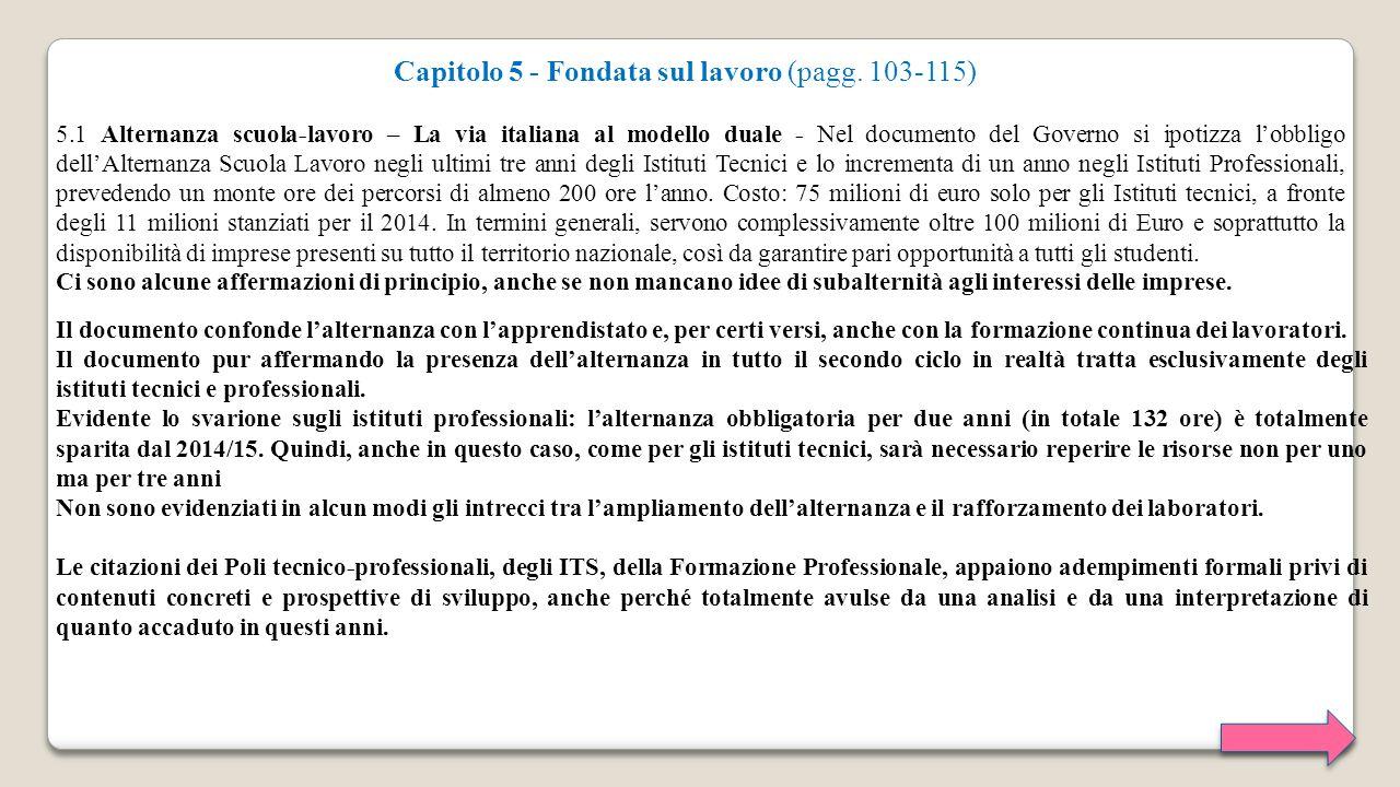 Capitolo 5 - Fondata sul lavoro (pagg. 103-115)