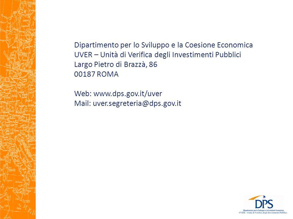 Dipartimento per lo Sviluppo e la Coesione Economica