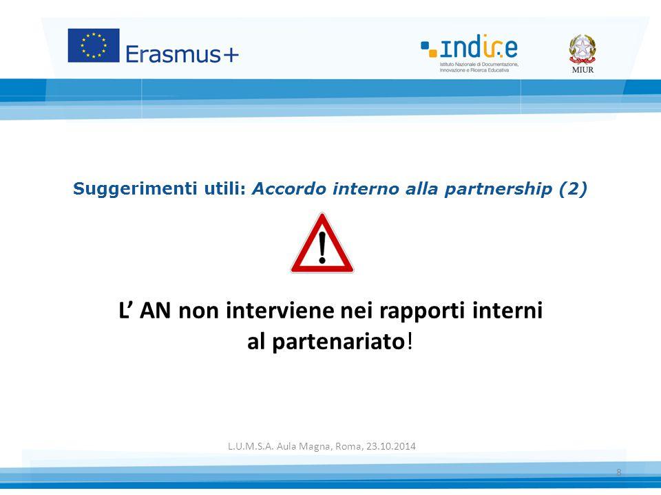 Suggerimenti utili: Accordo interno alla partnership (2)