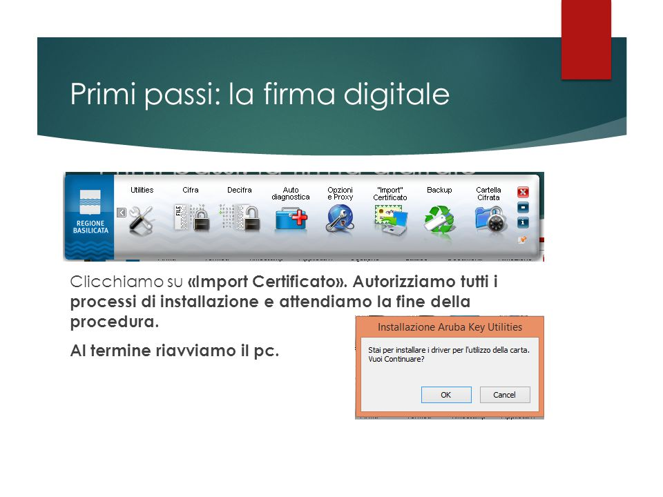 Primi passi: la firma digitale