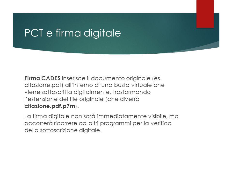 PCT e firma digitale