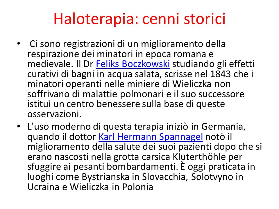 Haloterapia: cenni storici