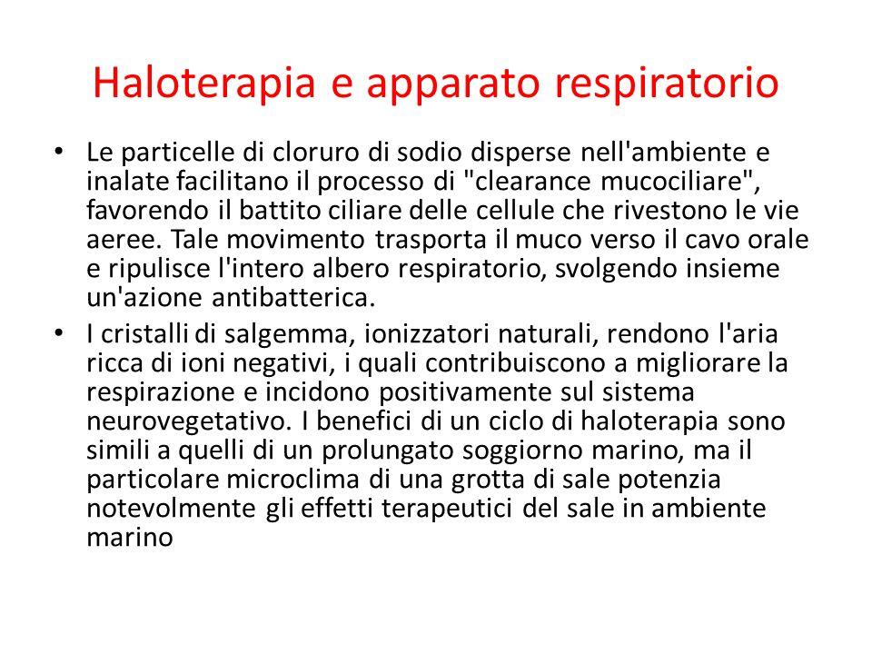Haloterapia e apparato respiratorio