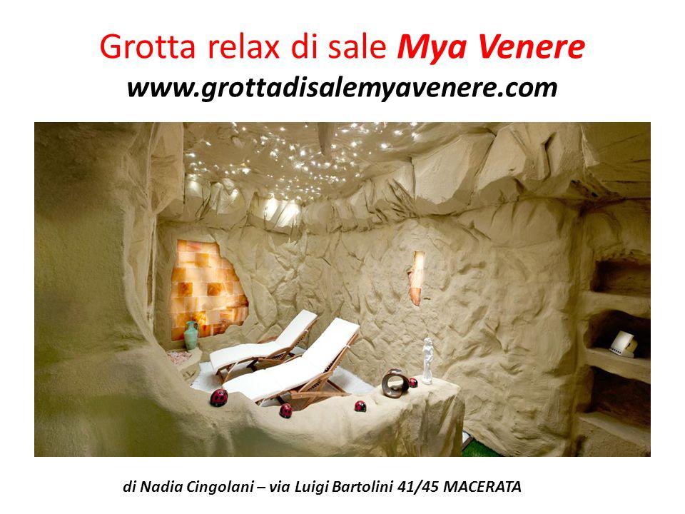 Grotta relax di sale Mya Venere www.grottadisalemyavenere.com
