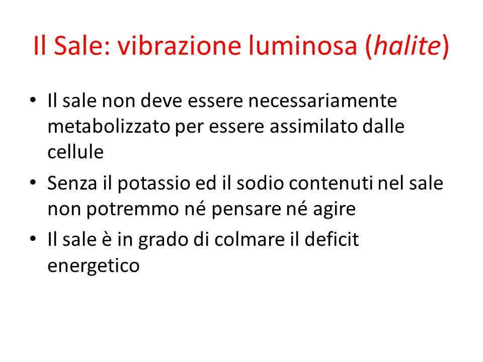 Il Sale: vibrazione luminosa (halite)