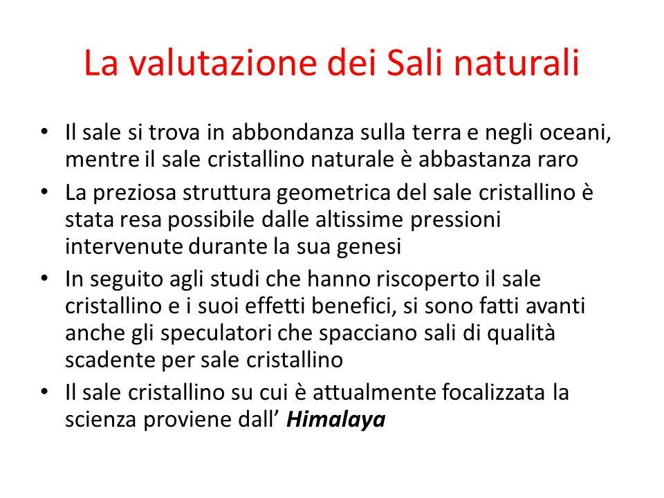 La valutazione dei Sali naturali