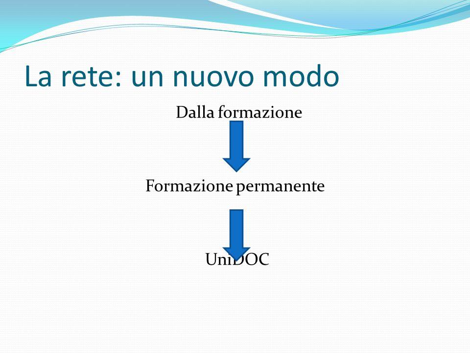 Dalla formazione Formazione permanente UniDOC