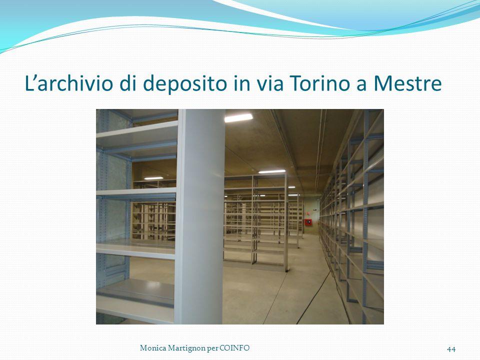 L'archivio di deposito in via Torino a Mestre