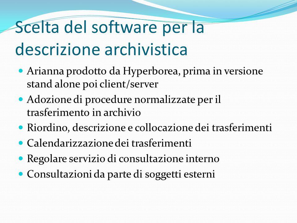 Scelta del software per la descrizione archivistica