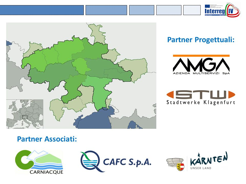 Partner Progettuali: Partner Associati: