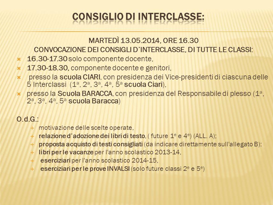 CONSIGLIO DI INTERCLASSE: