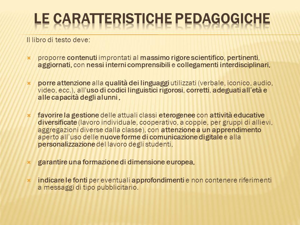 le caratteristiche pedagogiche
