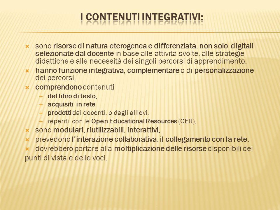 I contenuti integrativi: