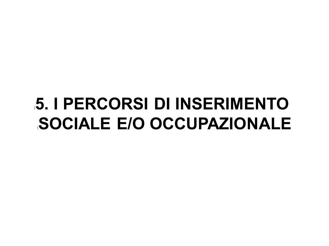 5. I PERCORSI DI INSERIMENTO SOCIALE E/O OCCUPAZIONALE
