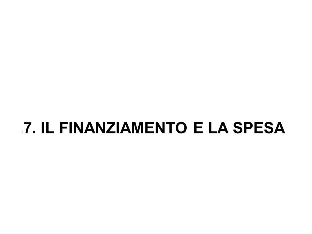 7. IL FINANZIAMENTO E LA SPESA