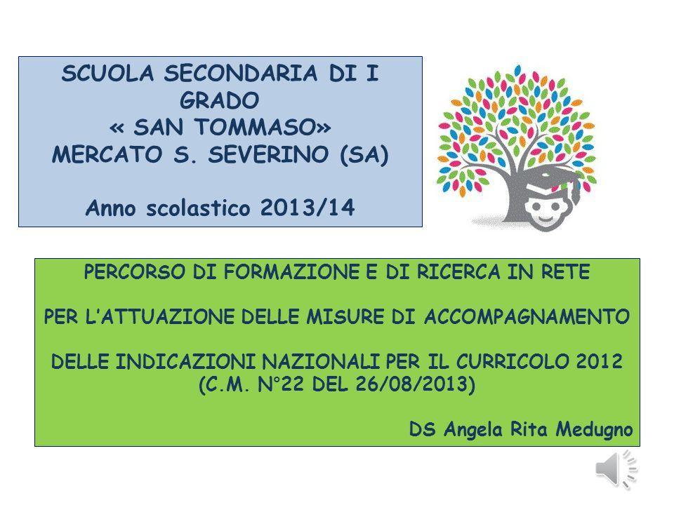 SCUOLA SECONDARIA DI I GRADO « SAN TOMMASO» MERCATO S. SEVERINO (SA)