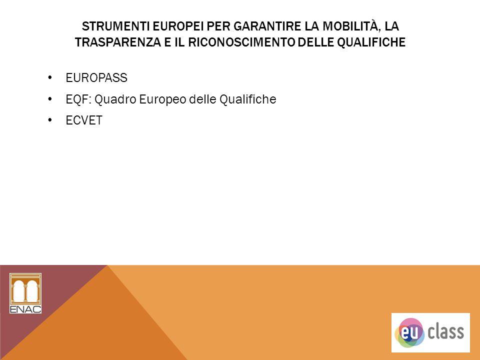 Strumenti Europei per garantire la mobilità, la trasparenza e il riconoscimento delle qualifiche
