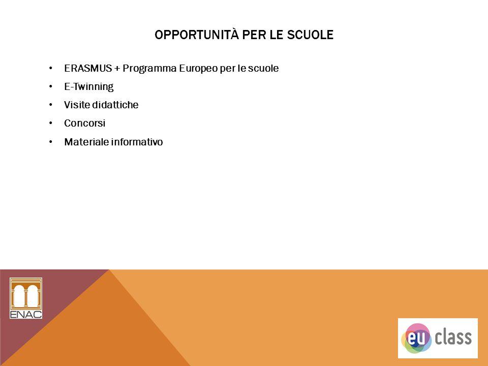 opportunitÀ per le scuole