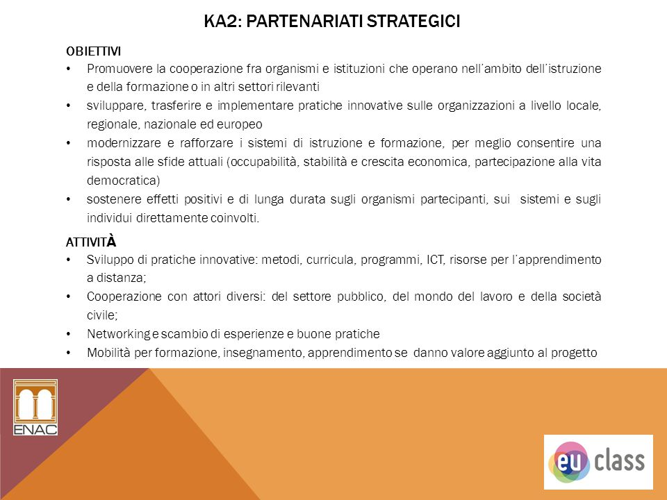 Ka2: Partenariati strategici
