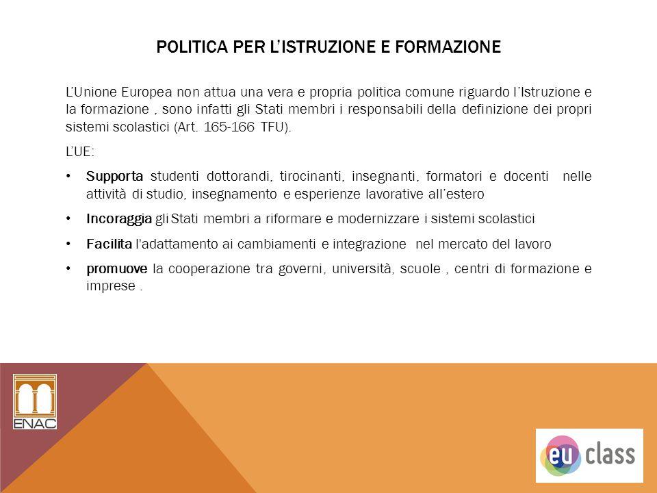 Politica per l'istruzione e Formazione