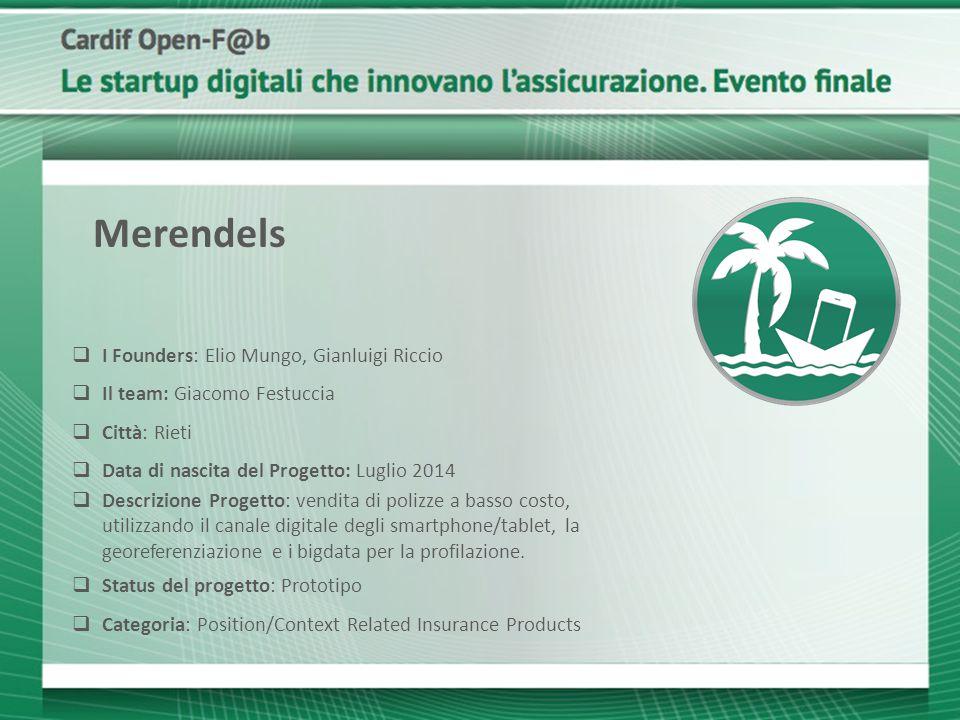 Merendels I Founders: Elio Mungo, Gianluigi Riccio