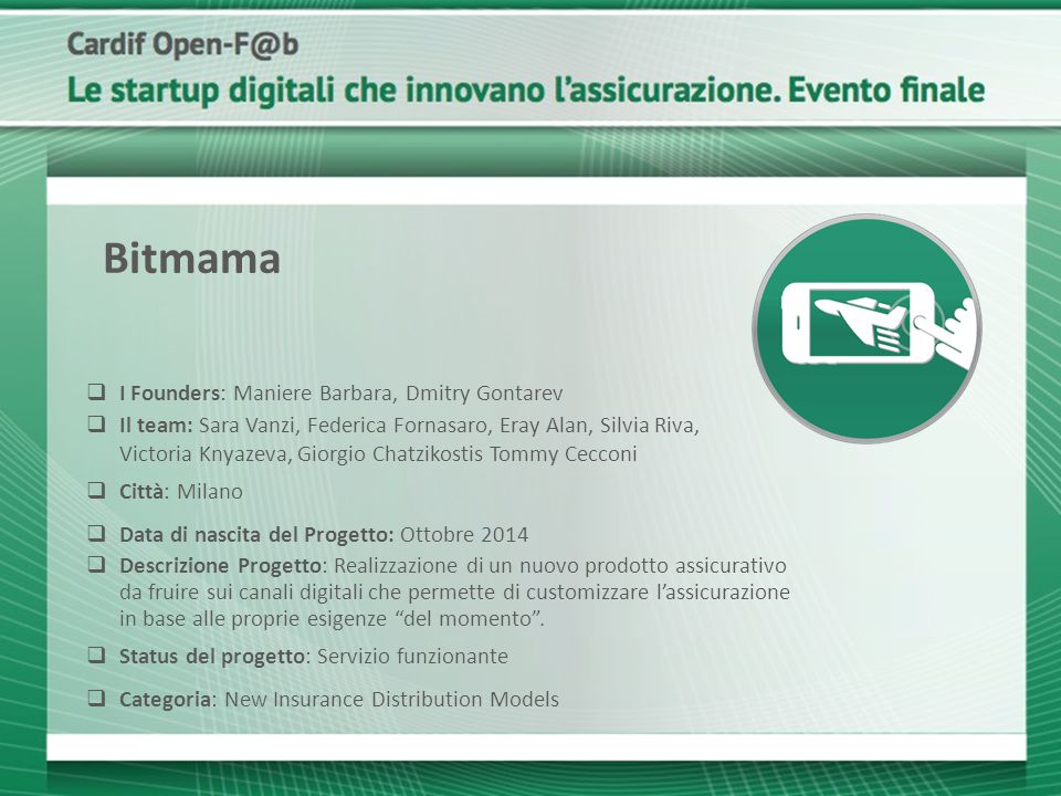 Bitmama I Founders: Maniere Barbara, Dmitry Gontarev