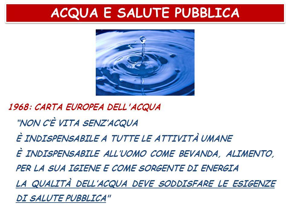 ACQUA E SALUTE PUBBLICA