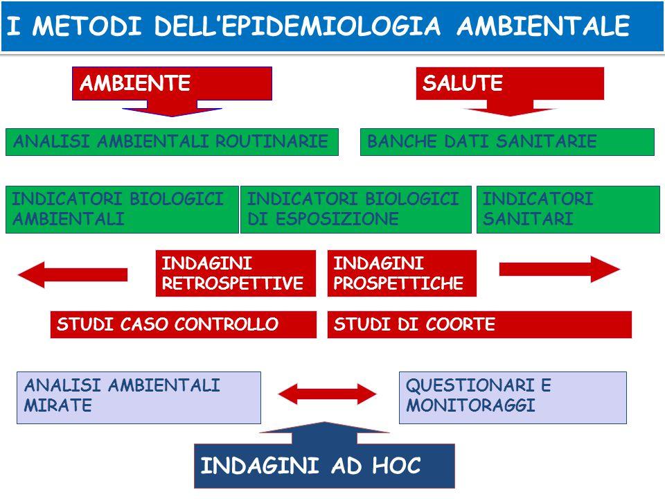I METODI DELL'EPIDEMIOLOGIA AMBIENTALE