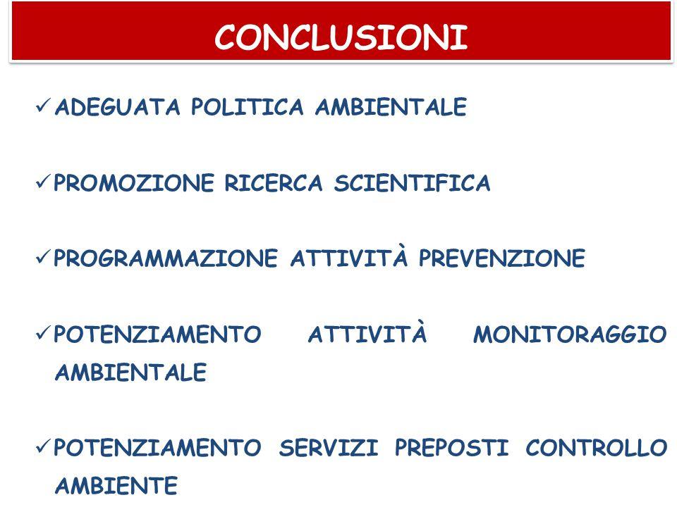 CONCLUSIONI ADEGUATA POLITICA AMBIENTALE
